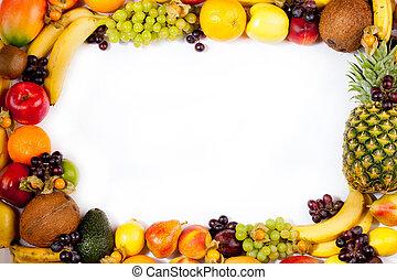 fruits, cadre