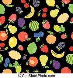 Fruits colorful seamless pattern