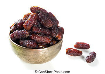 fruits, date, nourriture, ramadan