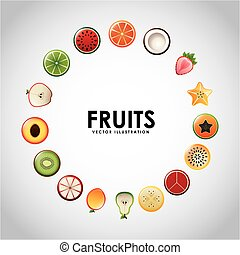 fruits design  - fruits  design , vector illustration