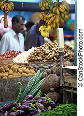 fruits, divers, local, inde, marché