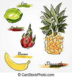 fruits, entero