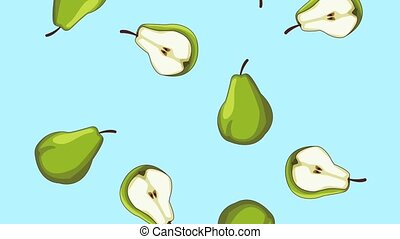 Fruits falling background HD animation HD animation - Green...