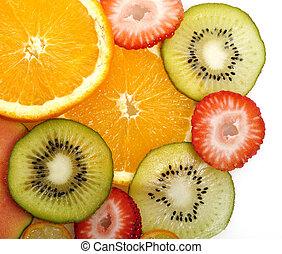 fruits, fond, exotique