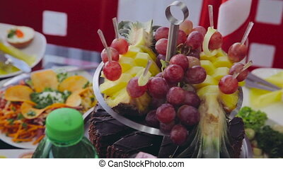 Fruits for cocktail party. Catering