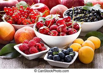 fruits, frais, baies
