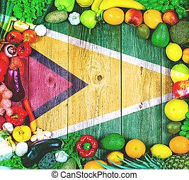 fruits frais, légumes, guyane
