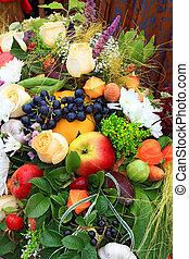fruits frais, marché, rural