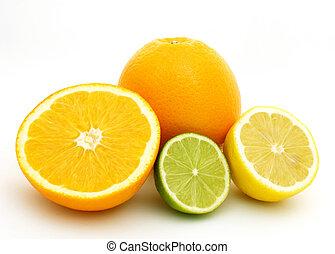 fruits, fruta cítrica