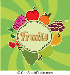 fruits, icono