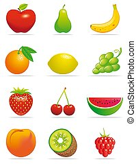 Fruits icons -   Fruits icons