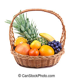 fruits in a wicker basket