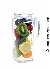 fruits in glass