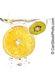 Fruits in water