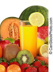 fruits, jugo, fresco