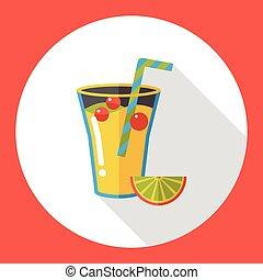 fruits juice flat icon