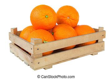 fruits, mûre, orange fraîche