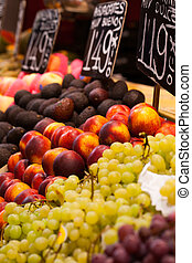 Fruits market, in La Boqueria,Barcelona famous marketplace
