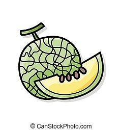 fruits melon doodle