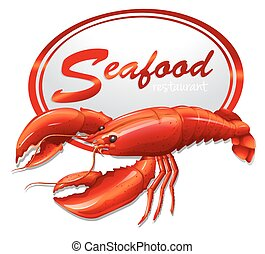 fruits mer frais, homard