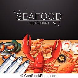 fruits mer, gabarit, restaurant