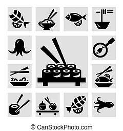 fruits mer, icônes