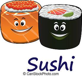 fruits mer, sushi, japonaise
