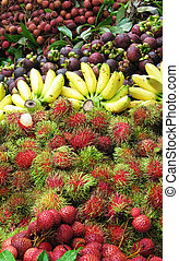 Fruits Mixture - Array of Fruits from Thailand Floating...