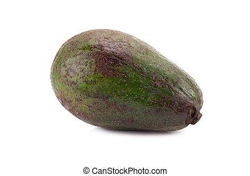 Fruits of avocado isolated on white background