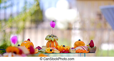 fruits on a outdoor party