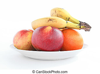 fruits on plate