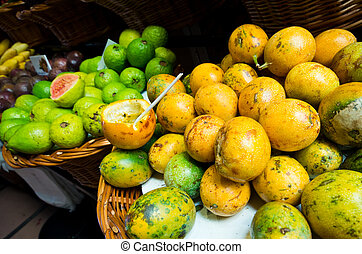 Fruits on the market, Funchal, Madeira