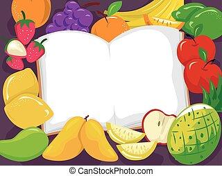 Fruits Open Book Illustration