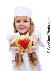 fruits, -, ordres, manger, docteur