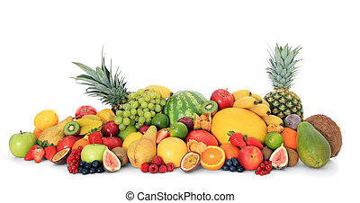 Fruits - Pile of various fruits.