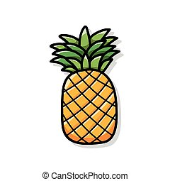 fruits pineapple doodle