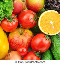 fruits, plano de fondo, vegetales