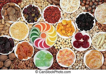 fruits secs, écrou, encas, collection