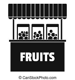 Fruits selling icon, simple style.