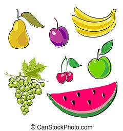 Fruits set.