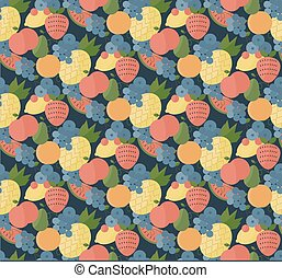 Fruits set pattern