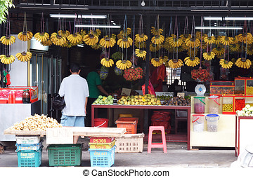 Fruits Stall in Asia.