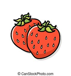 fruits strawberry doodle