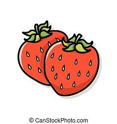 fruits strawberry doodle