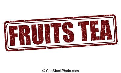 Fruits tea stamp