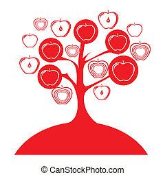fruits tree apples design