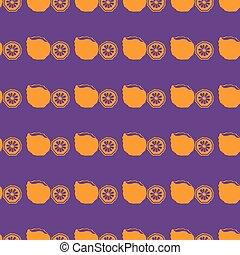 Fruits vector illustration on a seamless pattern background