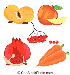 Fruits vegetables and berry
