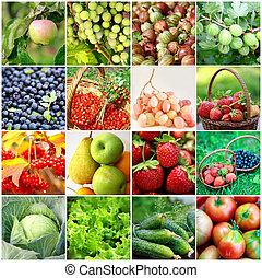 Fruits, vegetables, berries