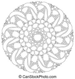 Fruits Vegetables Mandala Outline - Fruits and vegetables...